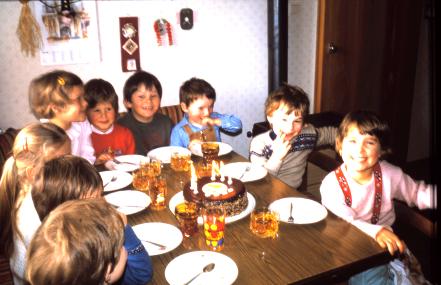 Unsere Geburtstagspartys waren immer eine Gaudi