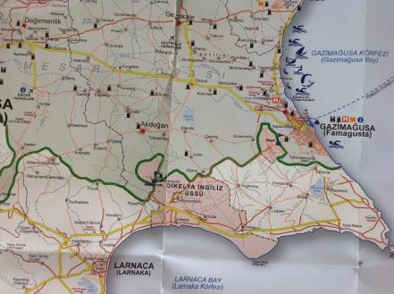 Landkarte Famagusta
